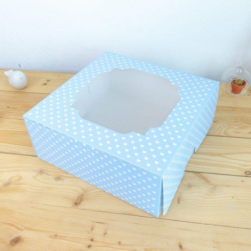 กล่องเค้ก 2 ปอนด์ ฟ้า