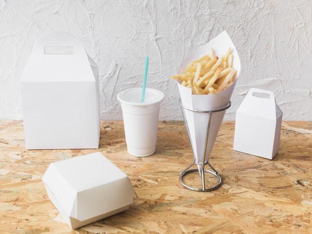 การผลิตกล่องกระดาษใส่อาหาร